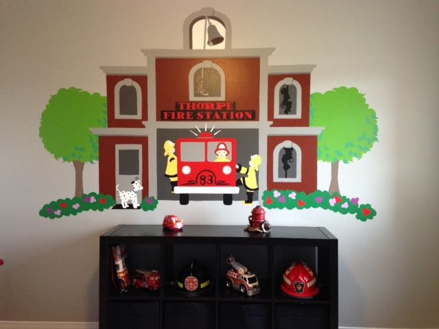 Our Fire Station Paint By Number Wall Mural Part 55