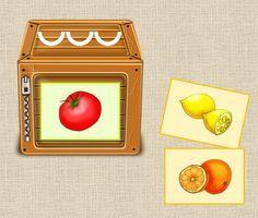 Frau Locke: Gemüse und Obst nach Silben ordnen - im Vorkurs De...
