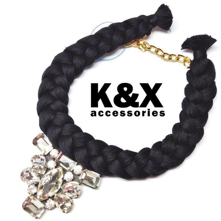 Vegas Black 3  112 USD Made in Ukraine. Ready to order! #onlinestore #kxfashion #statementnecklace #ukraine #odessa #rainbow #kxvegas #black #necklace #fashion #Jewelry #glam #fashion #handmade