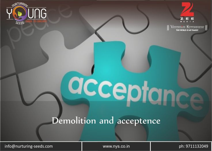 Demolition and Acceptence !!! This world constitutes of #winners and some people are so addictive to winning that they just doesn't even want to smell the defeat. It good to aspire to win....... Read more at: http://bit.ly/2jMvA3Z