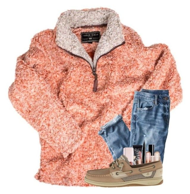 """""""@katie-1111 who were u ranting about on the bus? lol"""" by arielforlife ❤ liked on Polyvore featuring True Grit, J.Crew, Maybelline, Puma, NYX and Sperry"""