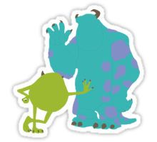 Mike Wazowski and James P. Sullivan (Mike and Sulley) - Monsters Inc Sticker