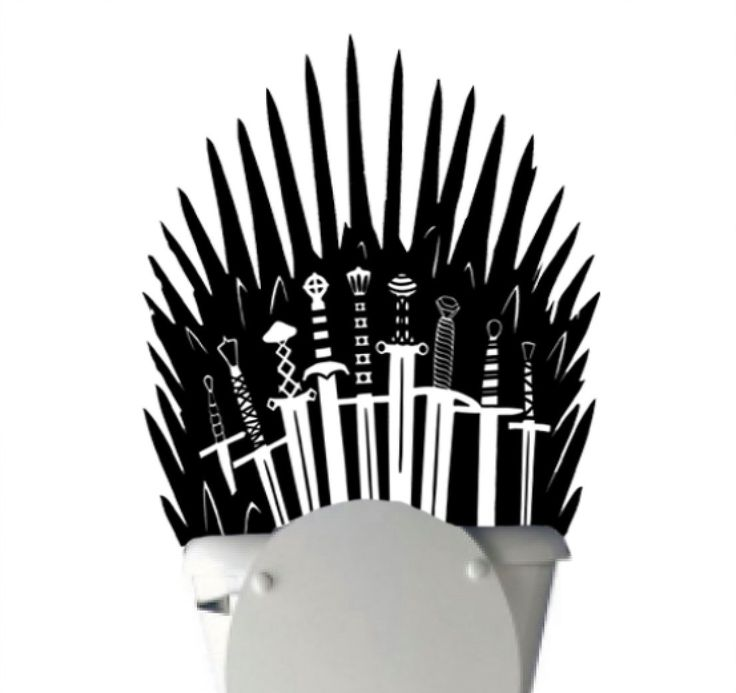 Iron Throne Toilet Decal Sticker Parody inspired by Game of Thrones - Iron throne for behind your toilet on Bathroom Wall #th1 by WordFactoryDesign on Etsy https://www.etsy.com/listing/207583114/iron-throne-toilet-decal-sticker-parody