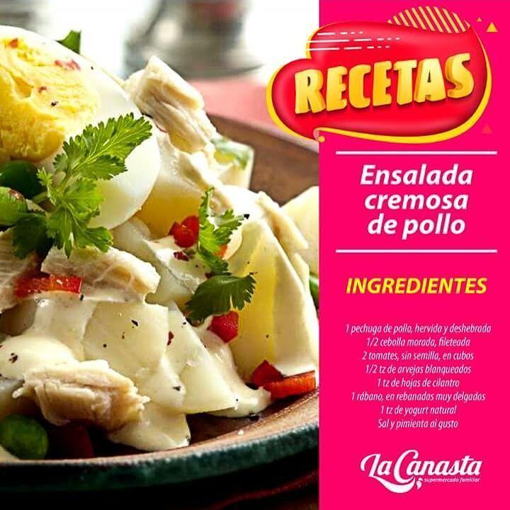 #RECETA Qué tal esta delicia para tu familia? Es muy fácil:  Mezcla el pollo la cebolla el jitomate y los chícharos.  Vierte el yogur y revuelve. Salpimienta y espolvorea las hojas de cilantro y el rábano. Acompaña con tostadas y huevo cocinado si lo prefieres. Por último disfruta. #LaCanasta #MásFresco #CulturaCanasta #EnsaladaDePollo #Almuerzo #Sogamoso