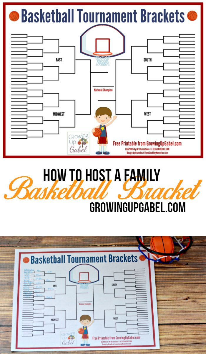 Enjoy a little fun family competition during March Madness basketball tournament with these free printable basketball tournament brackets!