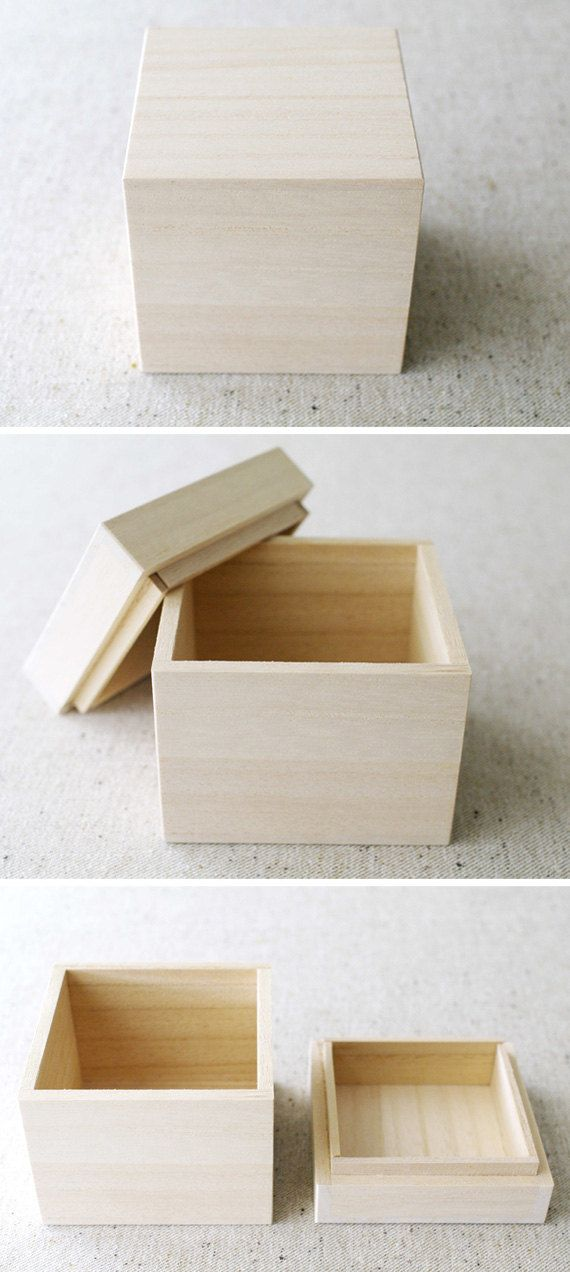 Wooden gift box  JAPANESE STYLE  A TYPE by karaku on Etsy, ¥800