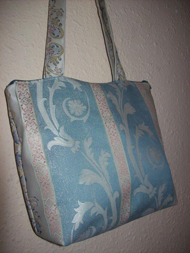Bolso en tela de tapicer a forrado con bolsillo interior - Telas para tapiceria ...