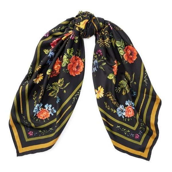 Polo Ralph Lauren Floral Wool Scarf ($65) ❤ liked on Polyvore featuring accessories, scarves, black, wrap shawl, oversized scarves, floral print scarves, wool scarves and polo ralph lauren scarves