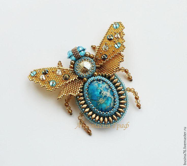 Купить Брошь Мотылек (варисцит, Сваровски, бирюзовый) - бирюзовый, брошь мотылек, брошь бабочка, мотылек