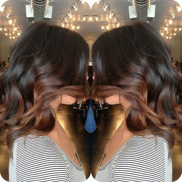 Balayage'd chocolate black and brown - Hairstyles and Beauty Tips #DanielleAtherton #Hairstyles #longhair