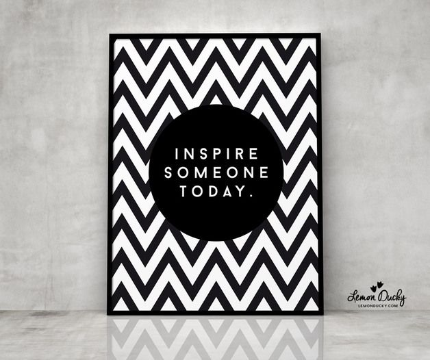 Plakat - Inspire someone today A3 - lemonducky - Plakaty typograficzne