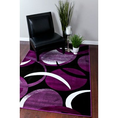 Features:  -Tobis collection.  -Material: High quality polypropylene.  -Origin: Turkey.  -Pattern: Abstract.  -Stain resistant.  Technique: -Machine woven.  Primary Color: -Purple.  Type of Backing: -
