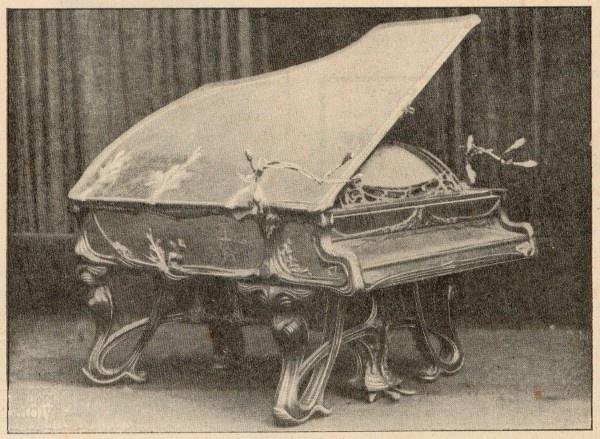 Pleyel Grand Piano presented at the Exposition,  A. Tassu & A. Methet.