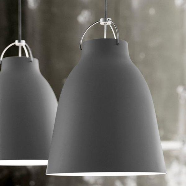 Caravaggio P2 lamp, matt dark grey