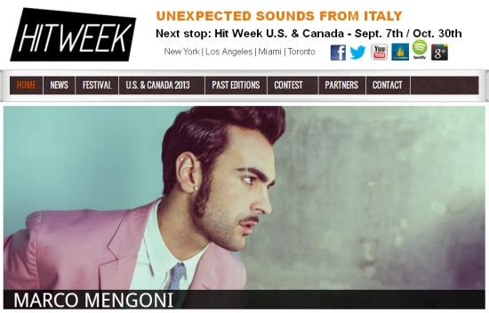 Marco Mengoni vola a Los Angeles: due concerti al Billboard Music Conference per la Hit Week 2013