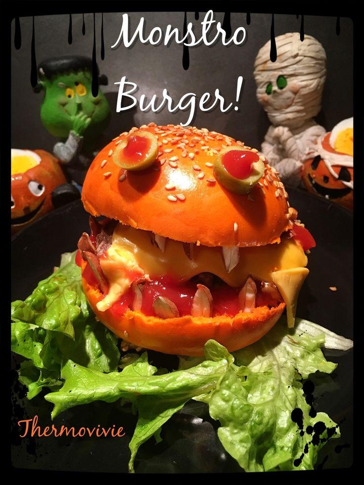Monstro Burger, l'hamburger monstrueux pour Halloween