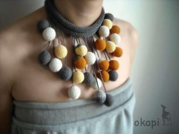 Eccentric Crochet Installations : Desiree de Baar Knitted Sculptures