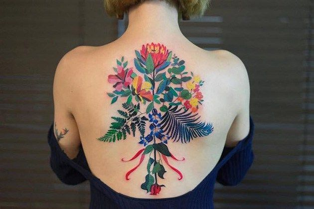 Delicate Tattoos Inspired By Nature Colorfully Adorn The Skin