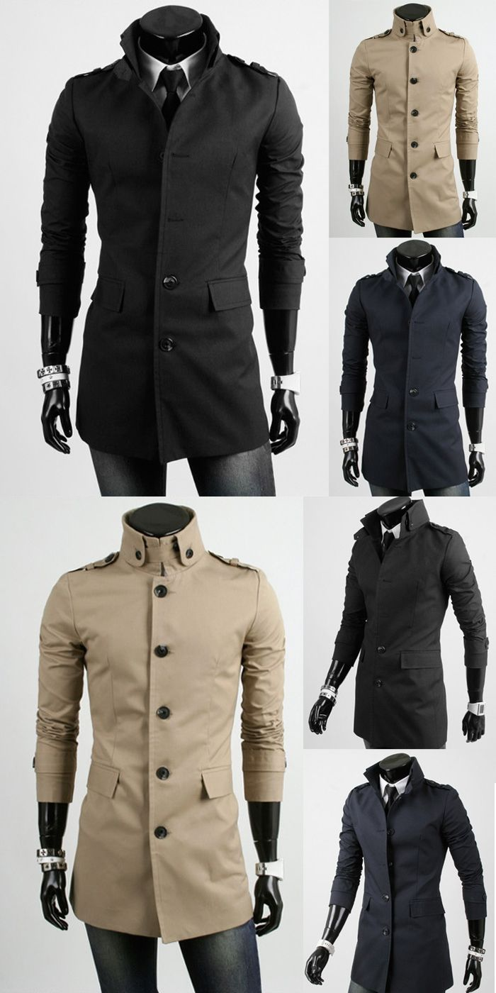 a628fbbb3 Customize Top Quality Slim single breasted Brand mens long trench ...