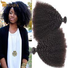 Mongolian Afro Kinky Curly cabelo humano tece cabelo, Rosa produtos de cabelo Kinky Curly virgem cabelo Bundles 3 PCS muito macio qualidade 7A(China (Mainland))