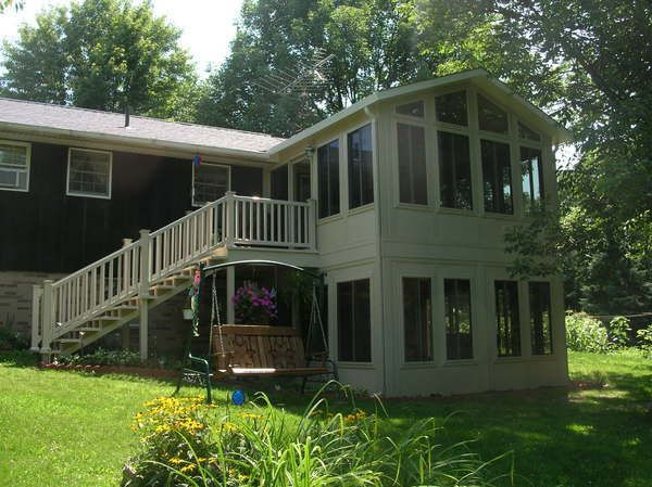 2496 best images about cabin cottage on pinterest for Backyard sunroom
