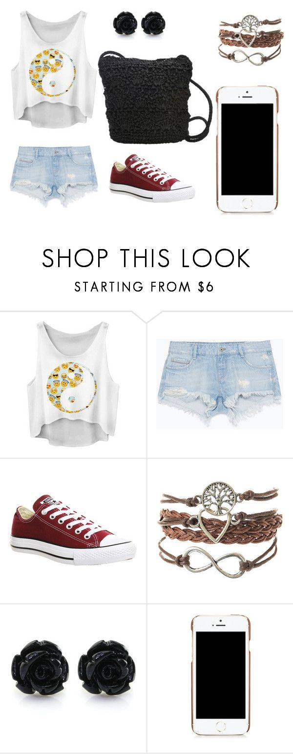 """Untitled #67"" by zahlia-tibbs on Polyvore featuring Zara, Converse, Moschino and Magid"