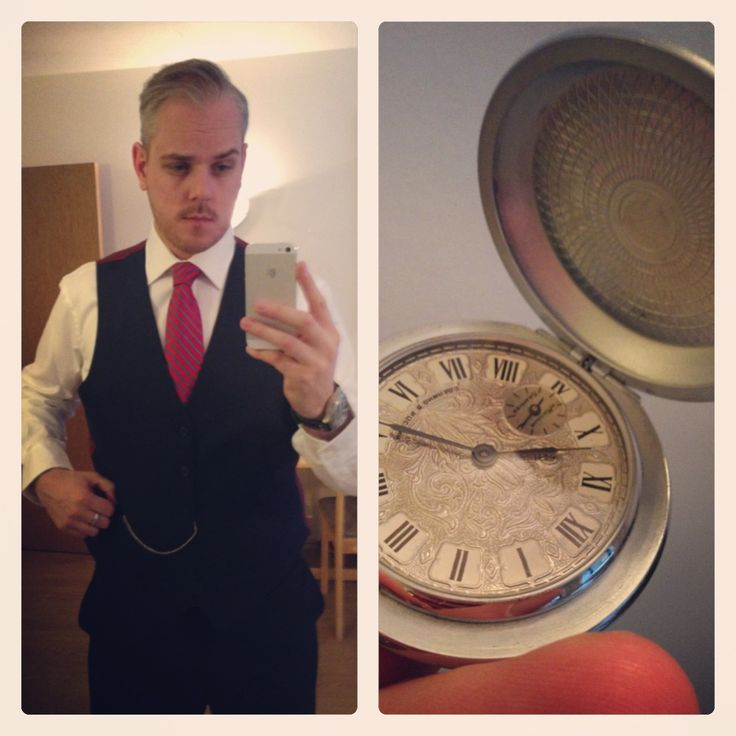Pocket watch and suit