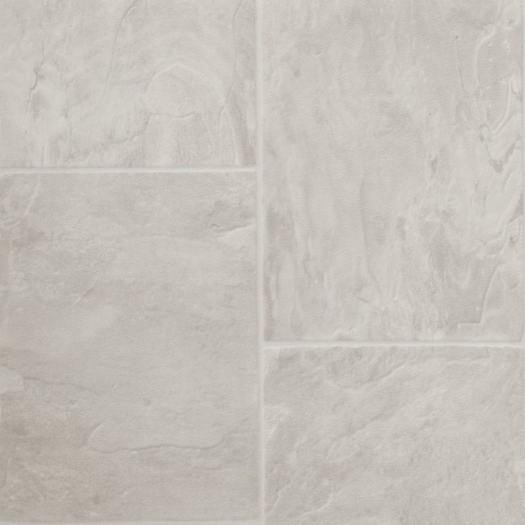 Tarkett 12 Ft W White Tile Low Gloss Finish Sheet Vinyl