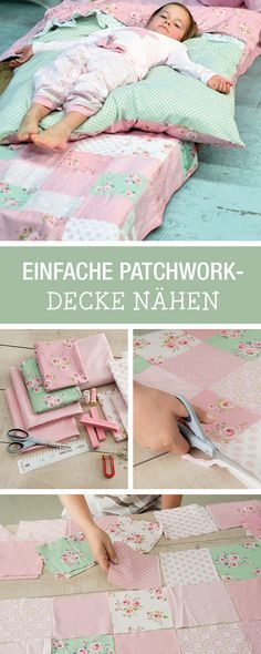 DIY-Anleitung: Deine Lieblingsstoffe als Patchwork-Decke nähen, Wohnaccessoire für den Winter / DIY tutorial: your favorite fabric as cute patchwork blanket, home accessory for winter via DaWanda.com