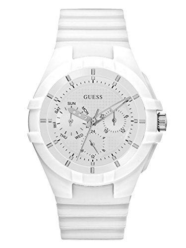 GUESS Womens Quartz Rubber and Silicone Casual Watch ColorWhite Model U0942L1 * ...