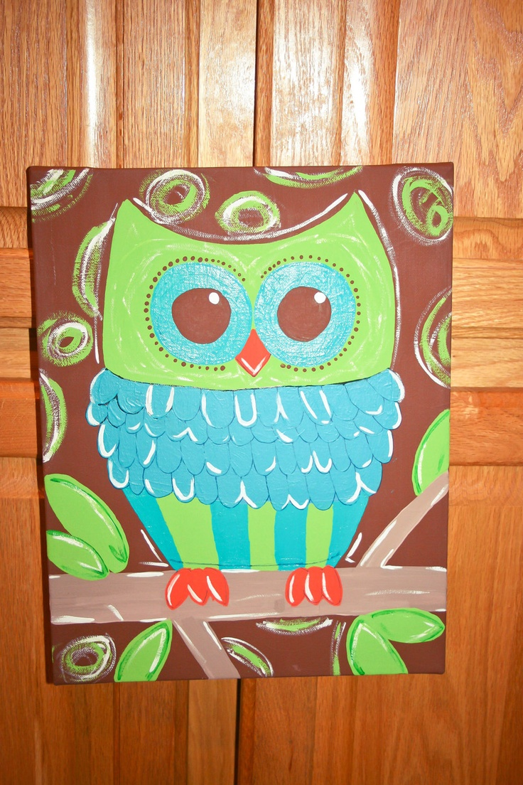 25 Best Ideas About Owl Canvas Paintings On Pinterest