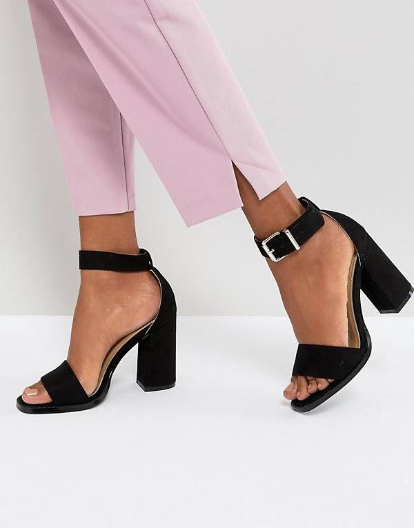 a95cff609f058 RAID – Imani – Schwarze Sandalen mit Blockabsatz | Shoes in 2019 ...