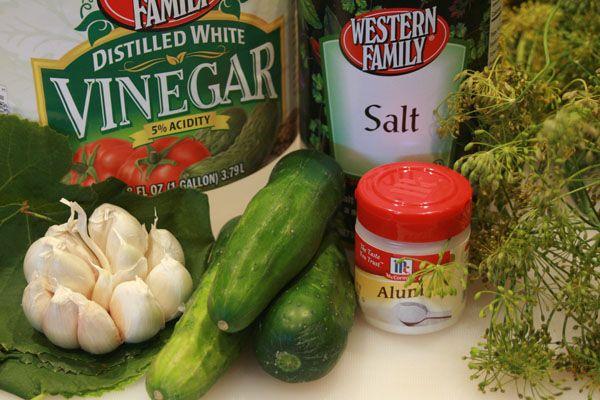 Canning dill pickles--Grandma Ella's Recipe.