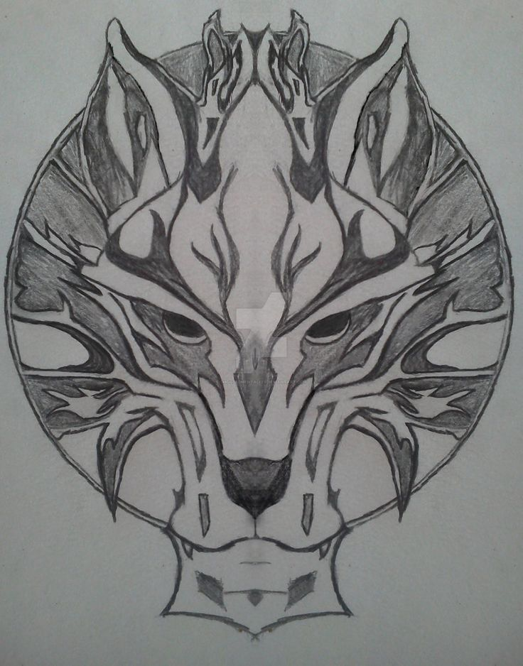 Nordic Wolf Emblem Tattoo by Ghostedmentality on DeviantArt