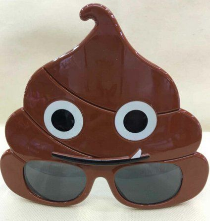 LLTrader Emoji Poop Sunglasses Party Favor Christmas Day Emotoin Poo Party Sunglasses #funny #fashion #gaggift #giftidea #poop #poopemoji #tshirt #tshirts