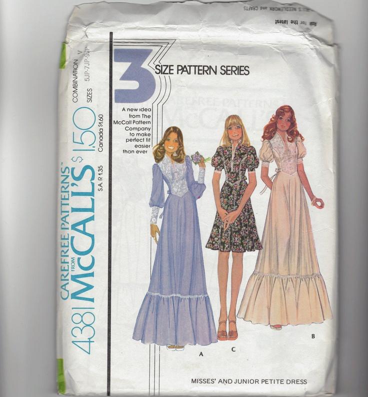 Renaissance Faire Wedding Dress Gown Costume History Mccalls: Vintage 70's Renaissance Fair Sewing Pattern. Boho, Hippie
