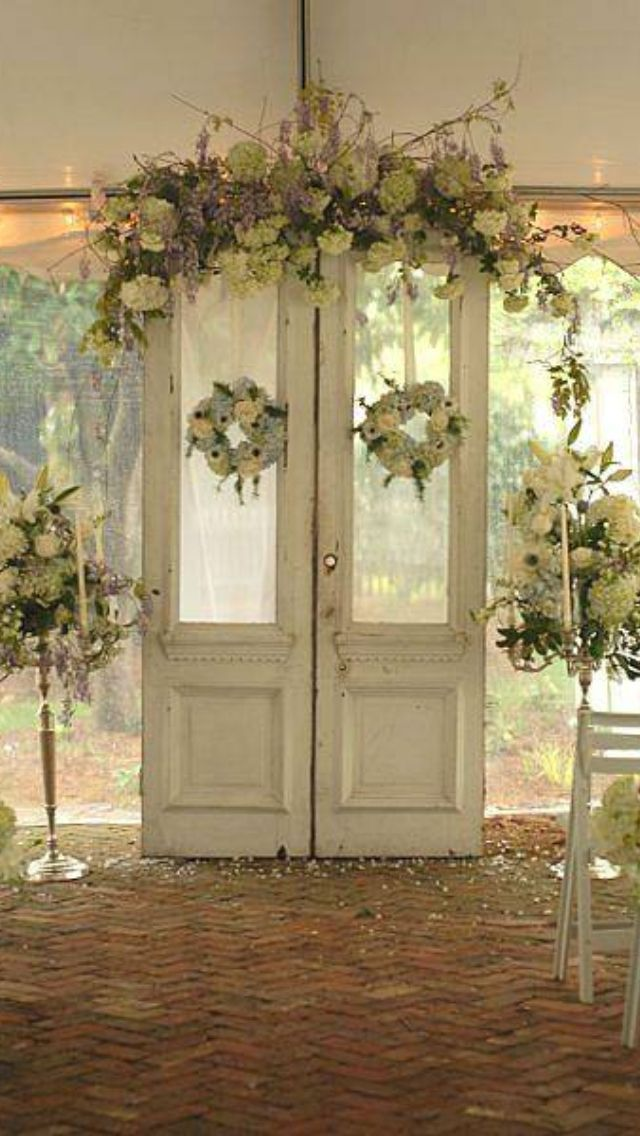 111 best backdrop door ideas images on pinterest for Wedding door decorating ideas