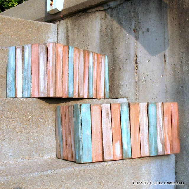 Diy Wood Crates With Paint Sticks