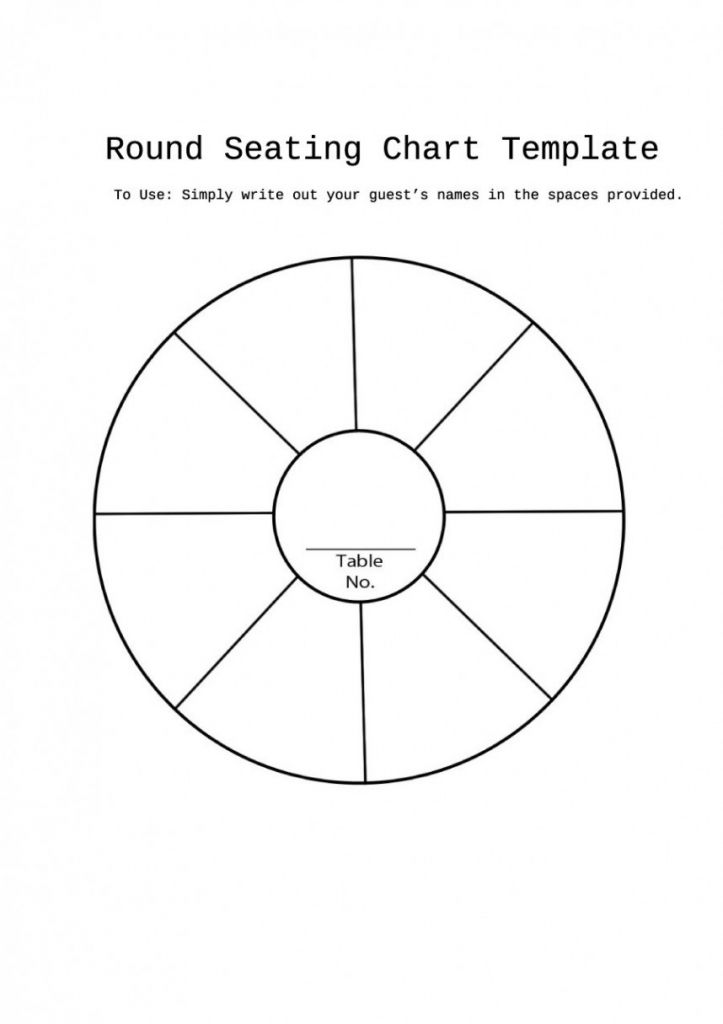 003 Table Seating Chart Template Amazing Ideas Free Round Plan