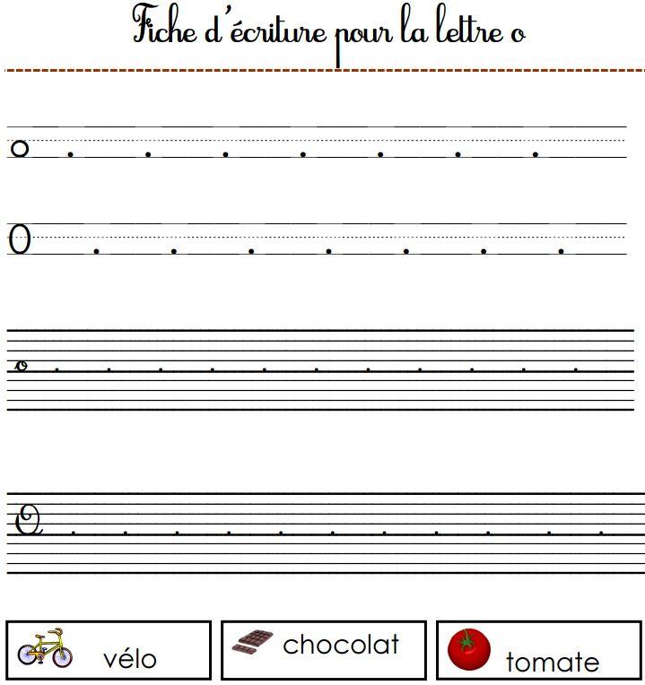 Fiche D'écriture à Imprimer : La Lettre O