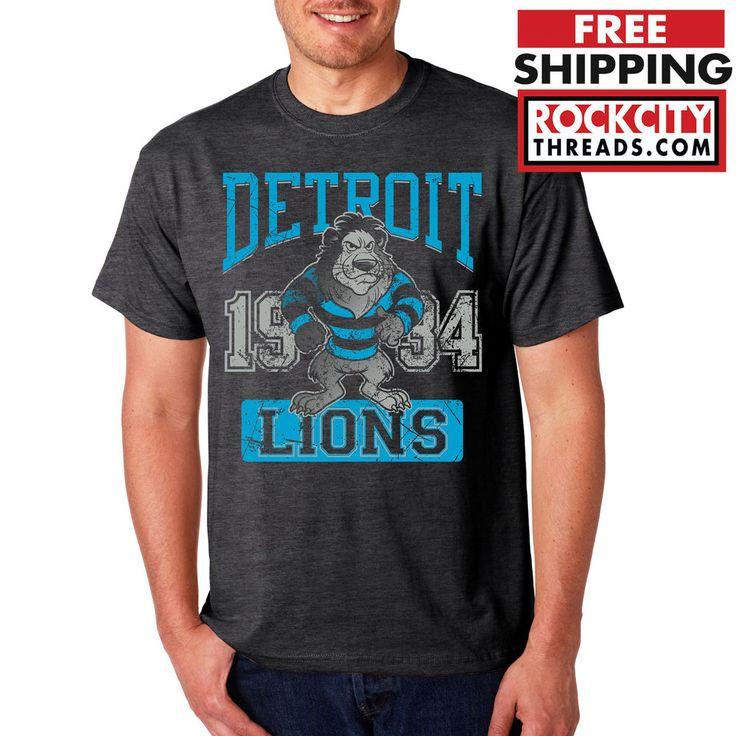 VINTAGE DETROIT LIONS T-SHIRT Calvin Johnson 81 Tshirt Football NFL Shirt Tee 9 #RockCityThreads #GraphicTee