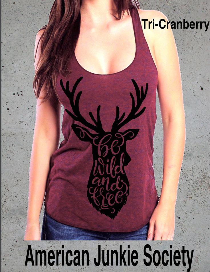 Deer Antler Tank Top Deer Shirt Wild Womens/__Racerback Tank Top()Instagram Like,Top Seller~Womens graphic tee Antler T shirt deer by AmericanJunkieSoc on Etsy https://www.etsy.com/listing/253578686/deer-antler-tank-top-deer-shirt-wild