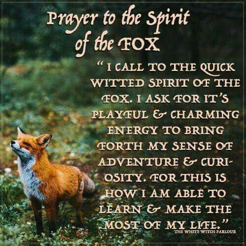 Fox Totem Prayer                                                                                                                                                                                 More