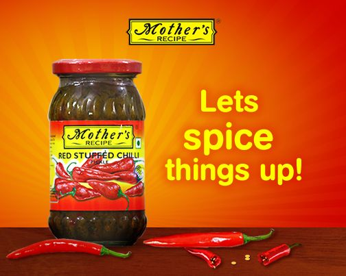 Can't eat food without your quota of spice? Then rush down and get yourself a packet of fiery Mother's Recipe stuffed Red Chilli Pickle!