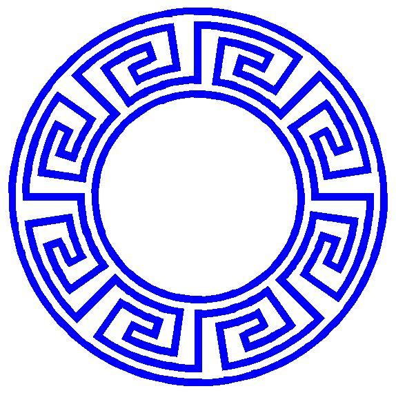 Greek keys - circular