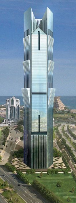 Palm Tower, Doha, Qatar by MZ Architects :: 58 floors, height 244m