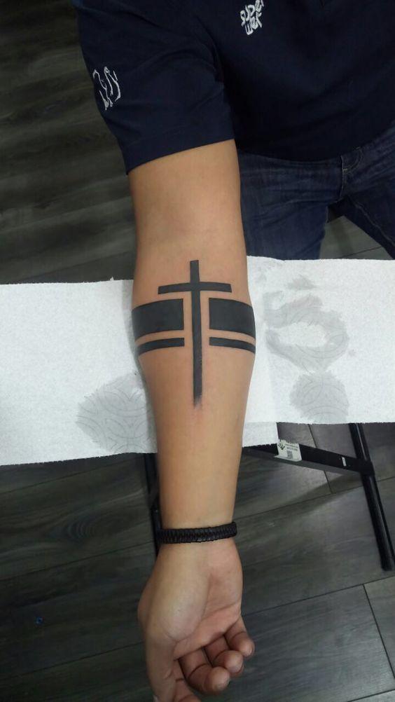 Best 25 Cross Armband Tattoo Design For Men – #Armband #Cross #design #formen #Men