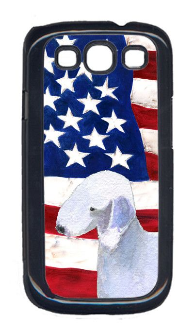USA American Flag with Bedlington Terrier Cell Phone Cover GALAXY S111
