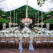 Love the layout for dinner during the wedding reception.