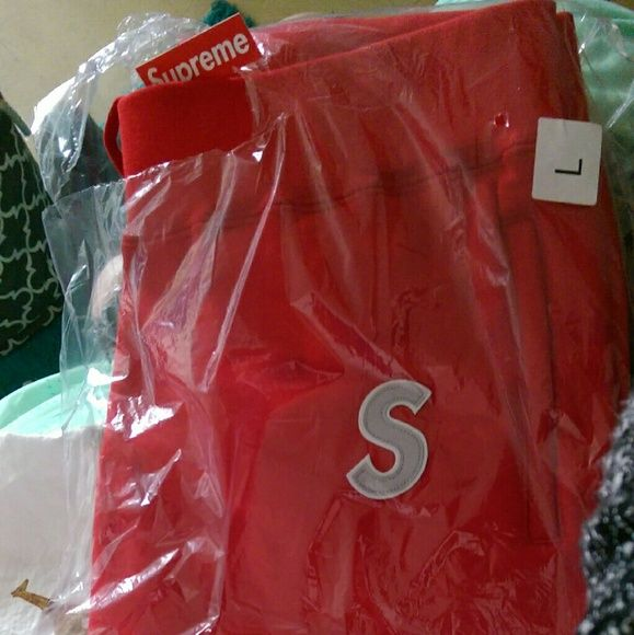 Supreme S logo sweatpants From the nyc drop 4/14/16 Red size large, new in packaging never opened. Has a reflective S. Also have a small red s logo sweats coming in the mail that I ordered online   I also have a grey medium S logo hoodie, red medium S logo hoodie, and all black camo camp hat with the box logo Supreme Pants